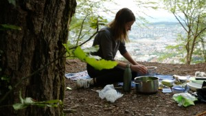 seraina cooking in the forest by greenandhungry Green&Hungry green and hungry