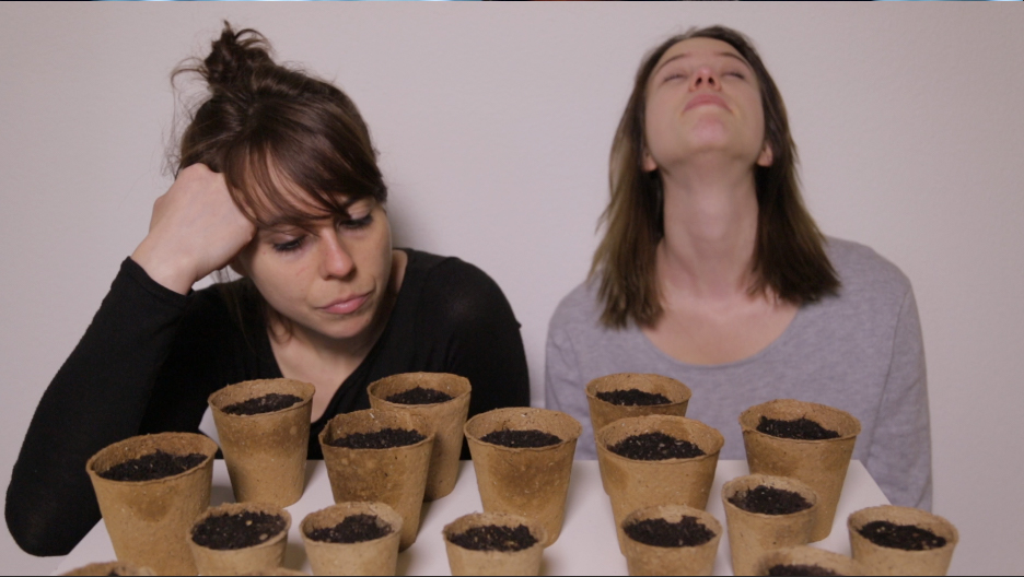 Franca and Seraina waiting for plants to grow by Green&Hungry greenandhungry green and hungry
